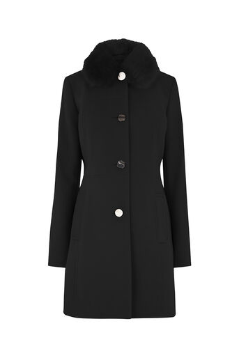 Oasis, OLIVIA PRINCESS COAT Black 0