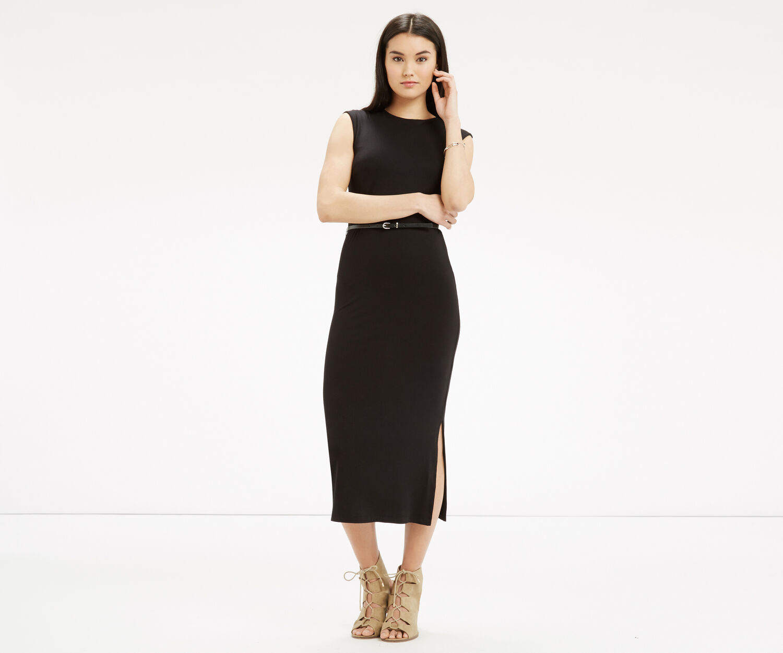 Oasis, Sheath Midi Dress Black 1