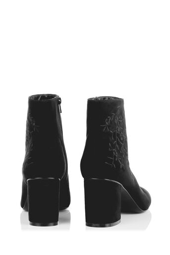 Oasis, EMBROIDERED ANKLE BOOT Black 4