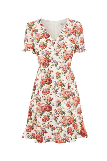 Oasis, UTILITY ROSE TEA DRESS Multi Natural 0