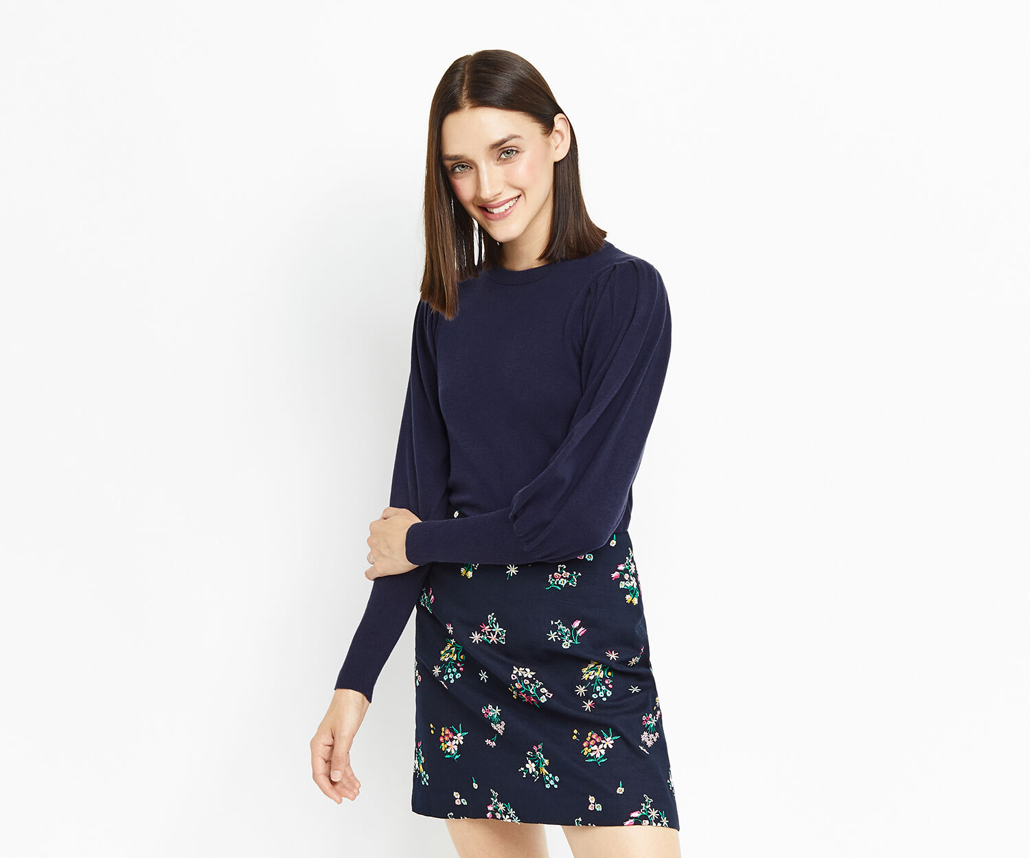 Oasis, HISTORICAL SLEEVE KNIT Rich Blue 1