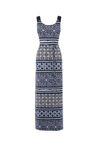 Oasis, TIE DYE MAXI DRESS Multi Blue 0