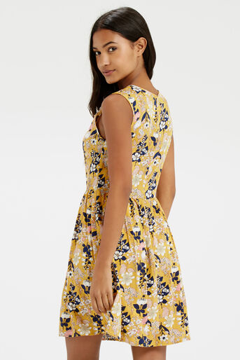 Oasis, Edie Floral Skater Multi Yellow 3