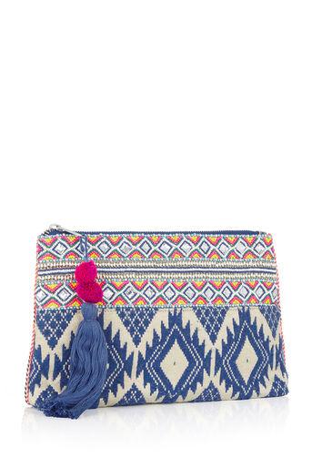Oasis, Delhi Clutch Bag Multi Blue 2