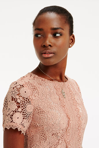 Oasis, GUIPURE LACE DRESS Natural 4