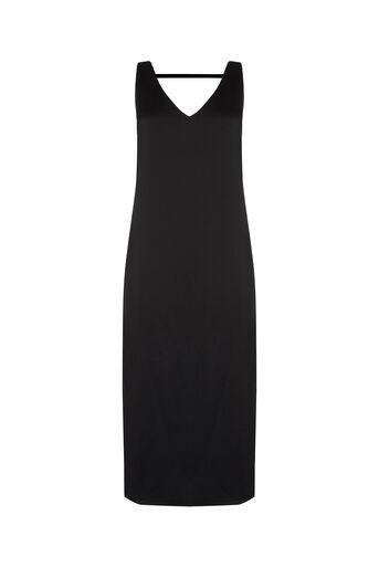 Oasis, Luxe Crepe Slip Dress Black 0
