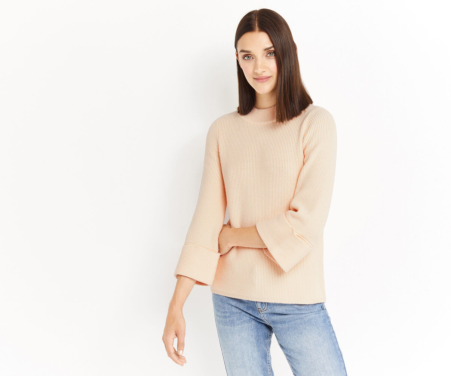Oasis, ANNABEL KNIT Light Neutral 1