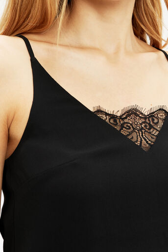 Oasis, LACE INSERT SQUARE BACK CAMI Black 4