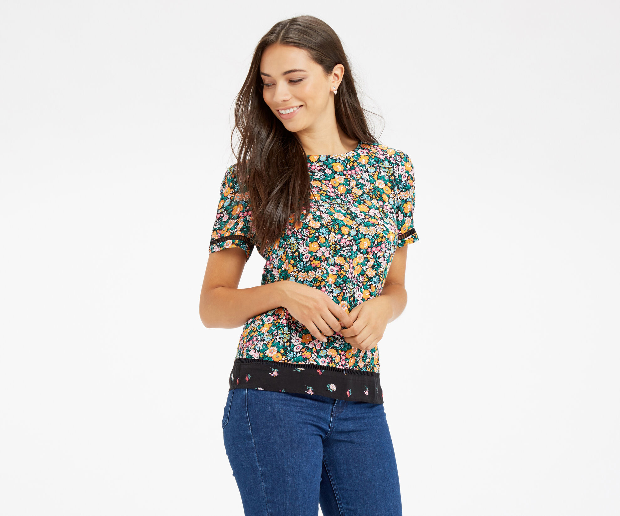 Oasis, DITSY TEE Multi Natural 1