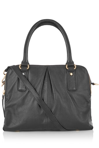 Oasis, LEATHER TOTE Black 0