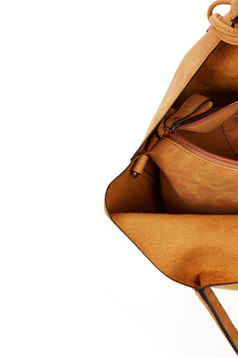 Oasis, HOLLY ZIP FRONT HOBO Camel 4