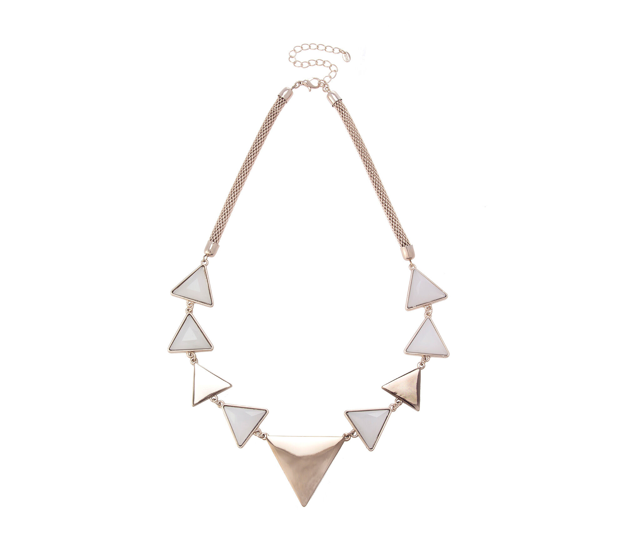 Oasis, TRIANGLE DETAIL NECKLACE White 0