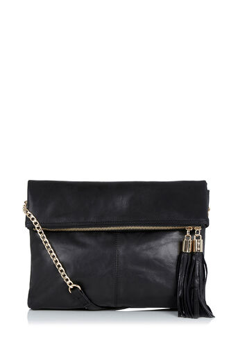 Oasis, LEATHER FREDA SATCHEL Black 0