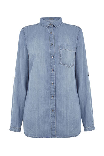 Oasis, One pocket shirt Denim 0
