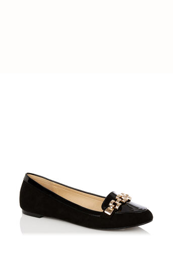 Oasis, Lauren Chain Loafer Black 0