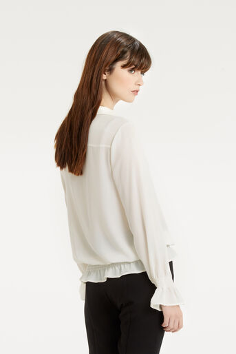 Oasis, Pussybow Blouse Off White 3