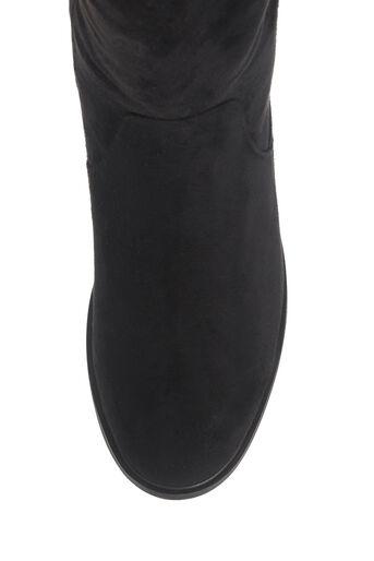 Oasis, BROOKE LONG FLAT BOOT Black 3