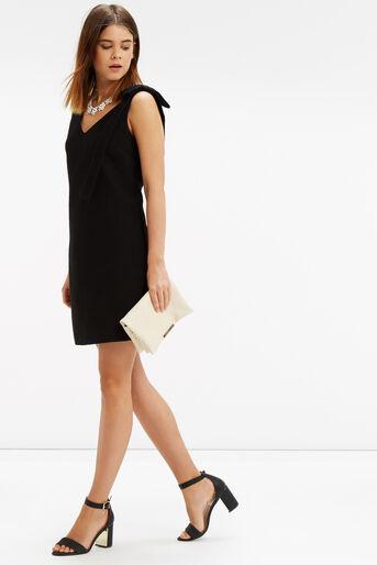 Oasis, Bow Shoulder Dress Black 2