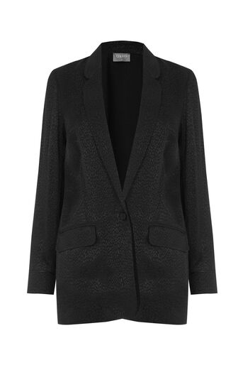 Oasis, VELVET ANIMAL JACKET Black 0