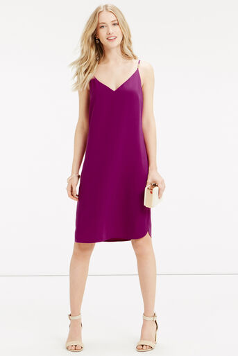 Oasis, Crepe Cami Dress - Longer Leng Mid Purple 2