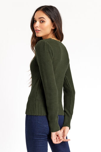 Oasis, Cable Knit Jumper Khaki 3