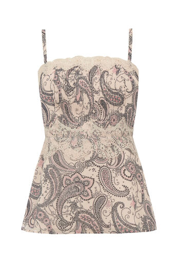 Oasis, LINGERIE LACE PAISLEY CAMI Off White 0