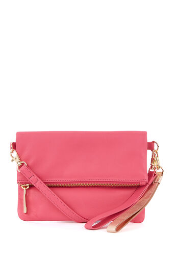 Oasis, LEATHER LEXI MULTI STRAP CLUTC Mid Pink 0