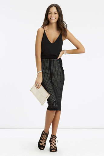 Oasis, Lace Compact Skirt Black 2