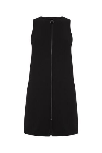 Oasis, Zip Front Dress Black 0