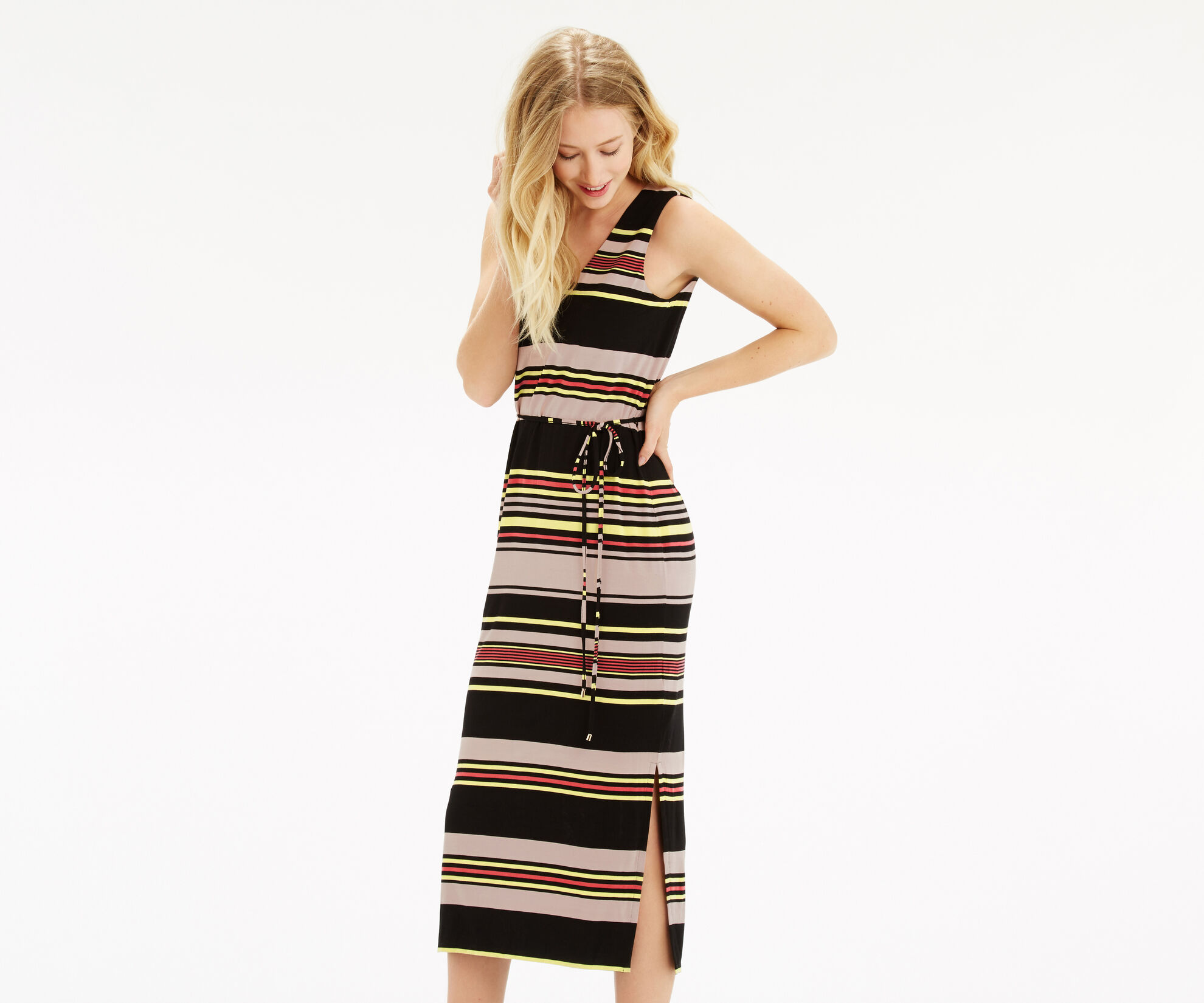 Oasis, Saffron Stripe Midi Multi 1