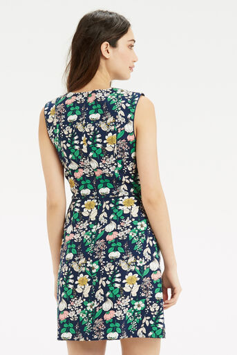 Oasis, The Print-Packed Shift Navy 3