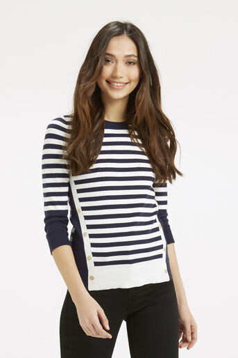 Oasis, Nautical Stripe Knit Multi 1