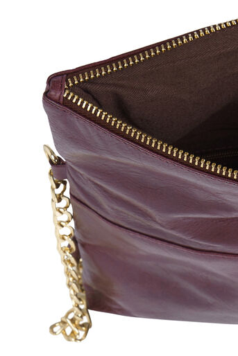 Oasis, Leather Ora Cross-Body Bag Burgundy 4