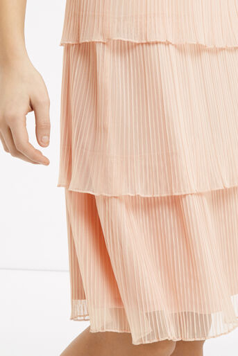 Oasis, Tiered Skirt Pale Pink 4