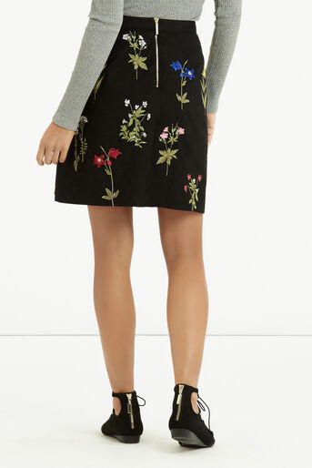 Oasis, Embroidered A-Line Skirt Multi 3