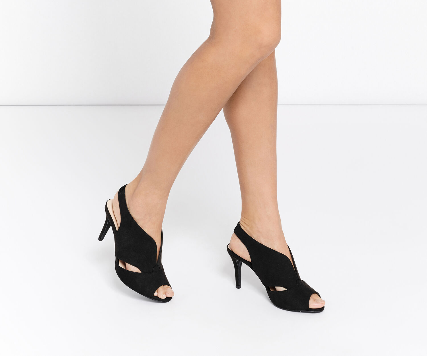 Oasis, PEACHES PEEPTOE HEEL Black 1