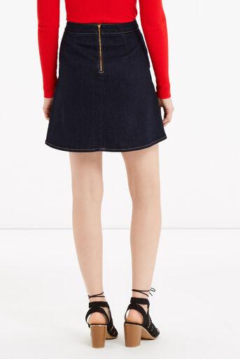 Oasis, Military skirt Dark Wash 3