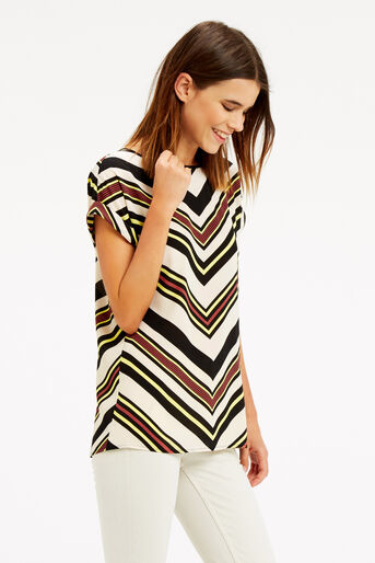 Oasis, Chevron Stripe T-Shirt Multi 1