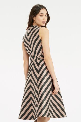 Oasis, Stripe Dress - Longer Length Multi Black 3