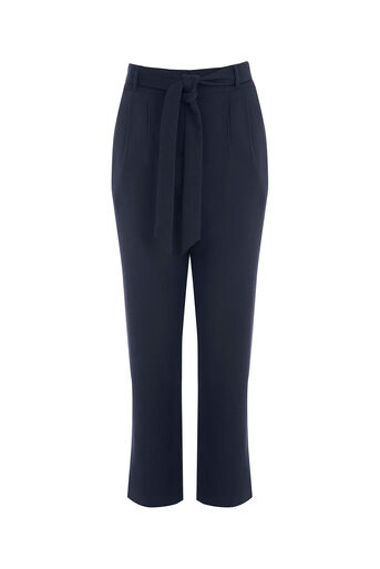 Oasis, Belted Peg Trousers Navy 0