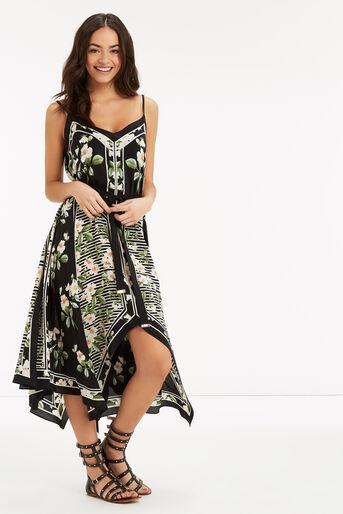 Oasis, CHELSEA SILK FLORAL DRESS Black 2
