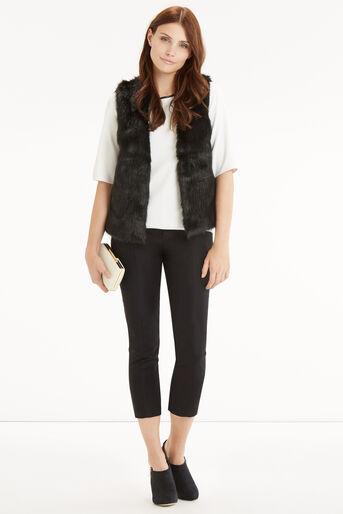 Oasis, Short Glam Fur Gillet Black 2