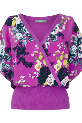 Oasis, BOTANICAL BOUQUET WRAP FRONT Deep Pink 0