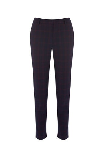 Oasis, SHADOW CHECK TROUSER Navy 0