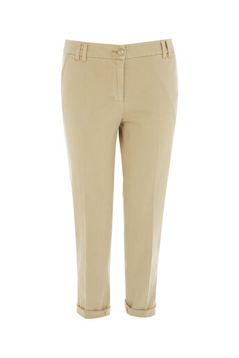 Oasis, SHORTER LENGTH CHINO Mid Neutral 0