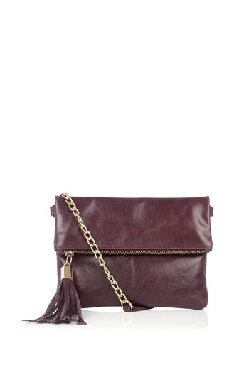 Oasis, Leather Ora Cross-Body Bag Burgundy 0