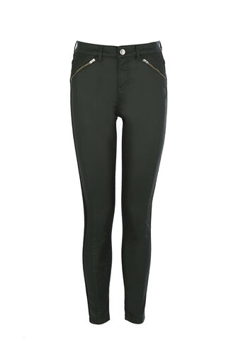 Oasis, PINSTITCH COATED JEAN Black 0