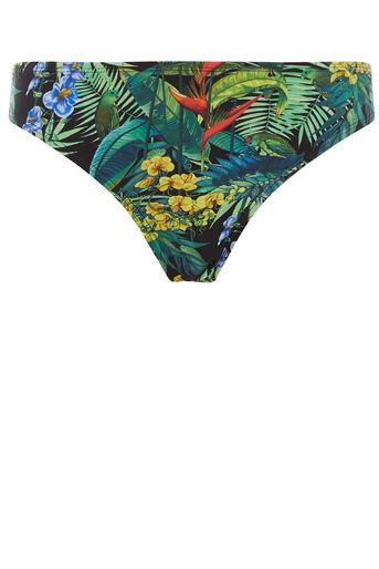 Oasis, Tropical twist bikini bottom Black 0
