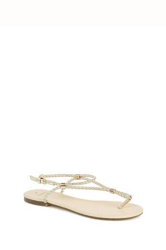 Oasis, Poppy Plait Sandals Gold 0