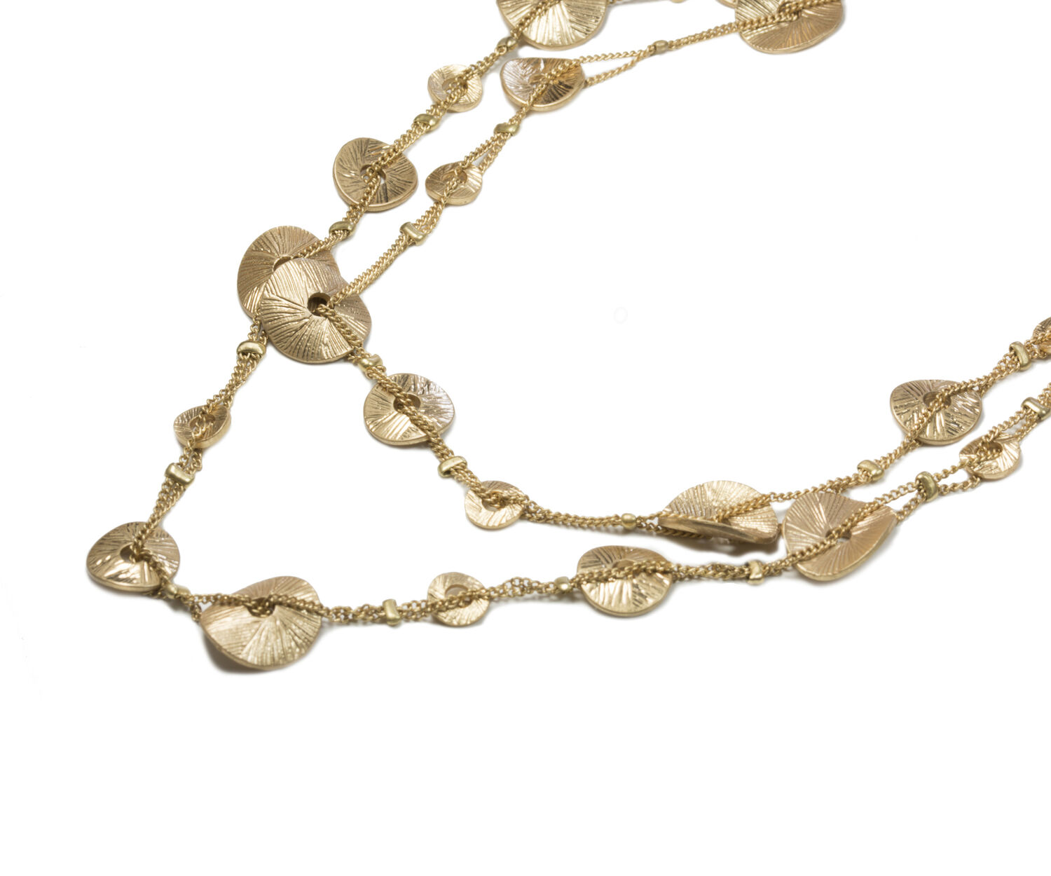 Oasis, LAYERED DISC NECKLACE Gold 1